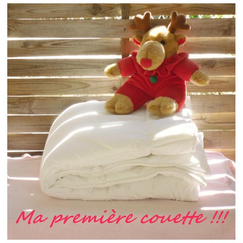 LA COUETTE bébé 110 x 150 Enveloppe 100 % COTON / BLANCHE