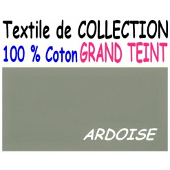 DRAP HOUSSE 2x80x200  LIT ARTICULE tête et pied relevable / GRAND TEINT 100 % COTON / ARDOISE