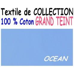 DRAP HOUSSE 2x80x200  LIT ARTICULE tête et pied relevable / GRAND TEINT 100 % COTON / OCEAN