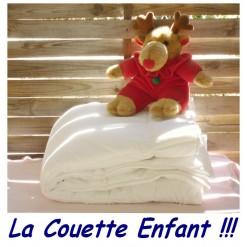 LA COUETTE ENFANT 110 x 180 Enveloppe 100 % COTON / BLANCHE