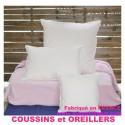 OREILLER bébé  35x55  Enveloppe 100 % COTON / BLANC