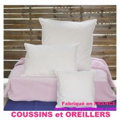 OREILLER COUSSIN 45x45  Enveloppe 100 % COTON / BLANC