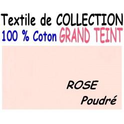 DRAP HOUSSE LONGUEUR  220 cm GRAND TEINT 100 % COTON  / 7 DIMENSIONS au choix / ROSE POUDRE