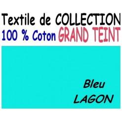 DRAP HOUSSE LONGUEUR  220 cm GRAND TEINT 100 % COTON  / 7 DIMENSIONS au choix / LAGON