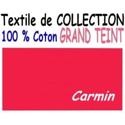 DRAP HOUSSE LONGUEUR  220 cm GRAND TEINT 100 % COTON  / 7 DIMENSIONS au choix / CARMIN