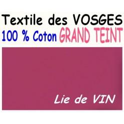 DRAP HOUSSE LONGUEUR  220 cm GRAND TEINT 100 % COTON  / 11 DIMENSIONS au choix / LIE DE VIN