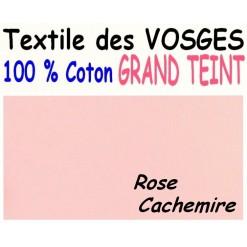 DRAP HOUSSE LONGUEUR  220 cm GRAND TEINT 100 % COTON  / 11 DIMENSIONS au choix / ROSE CACHEMIRE