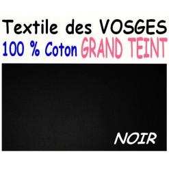 DRAP HOUSSE LONGUEUR  220 cm GRAND TEINT 100 % COTON  / 11 DIMENSIONS au choix / NOIR