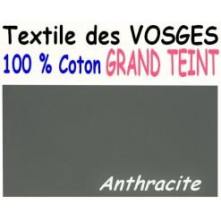 DRAP HOUSSE LONGUEUR  220 cm GRAND TEINT 100 % COTON  / 11 DIMENSIONS au choix / ANTHRACITE