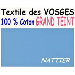 DRAP HOUSSE LONGUEUR  220 cm GRAND TEINT 100 % COTON  / 11 DIMENSIONS au choix / NATTIER