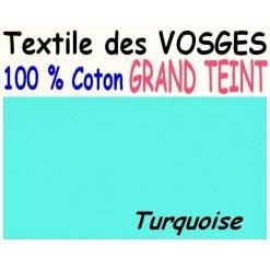 DRAP HOUSSE LONGUEUR  220 cm GRAND TEINT 100 % COTON  / 11 DIMENSIONS au choix / TURQUOISE