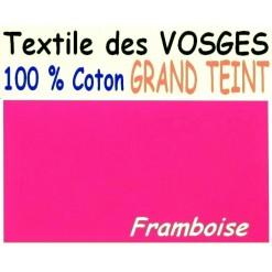 DRAP HOUSSE LONGUEUR  220 cm GRAND TEINT 100 % COTON  / 11 DIMENSIONS au choix / FRAMBOISE