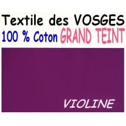 DRAP HOUSSE LONGUEUR  220 cm GRAND TEINT 100 % COTON  / 11 DIMENSIONS au choix / VIOLINE