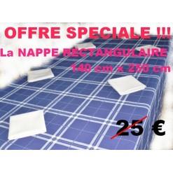LA NAPPE RECTANGULAIRE 140 x 250 / CAMPAGNE