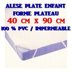 ALESE  PLATE Bébé 40 x 90 / 100 % PVC IMPERMEABLE