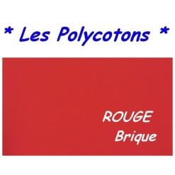 DRAP HOUSSE LONGUEUR  220 cm Bonnet 25 cm / 11 DIMENSIONS au choix / Rouge BRIQUE PC
