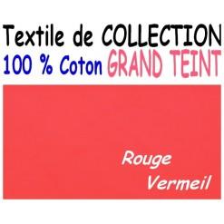 DRAP HOUSSE LONGUEUR  220 cm GRAND TEINT 100 % COTON  / 7 DIMENSIONS au choix / VERMEIL
