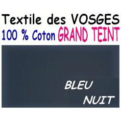 DRAP HOUSSE LONGUEUR  220 cm GRAND TEINT 100 % COTON  / 11 DIMENSIONS au choix / BLEU NUIT GT