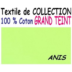 DRAP HOUSSE 2x80x200  LIT ARTICULE tête et pied relevable / GRAND TEINT 100 % COTON / ANIS