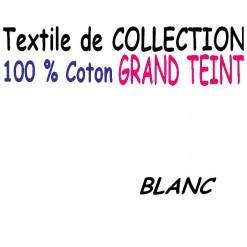 DRAP HOUSSE LONGUEUR  220 cm GRAND TEINT 100 % COTON  / 11 DIMENSIONS au choix / BLANC