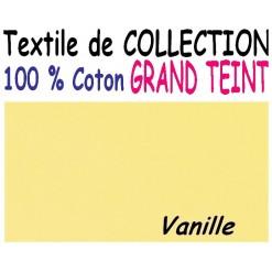DRAP HOUSSE LONGUEUR  220 cm GRAND TEINT 100 % COTON  / 11 DIMENSIONS au choix / VANILLE