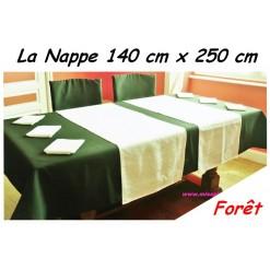 NAPPE RECTANGULAIRE 140 x 250 cm / TISSU INFROISSABLE / FORET