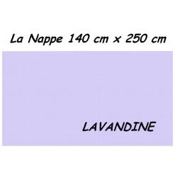 NAPPE RECTANGULAIRE 140 x 250 cm / TISSU INFROISSABLE / LAVANDINE