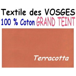 DRAP HOUSSE LONGUEUR  220 cm GRAND TEINT 100 % COTON  / 11 DIMENSIONS au choix / TERRACOTTA