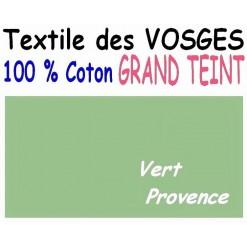 DRAP HOUSSE LONGUEUR  220 cm GRAND TEINT 100 % COTON  / 11 DIMENSIONS au choix /VERT PROVENCE
