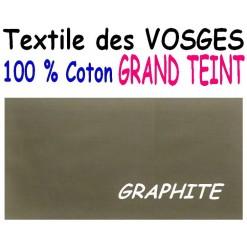 DRAP HOUSSE LONGUEUR  220 cm GRAND TEINT 100 % COTON  / 11 DIMENSIONS au choix / GRAPHITE