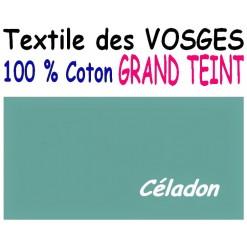 DRAP HOUSSE LONGUEUR  220 cm GRAND TEINT 100 % COTON  / 11 DIMENSIONS au choix / CELADON