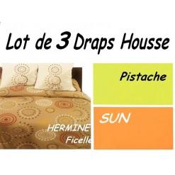 TOP PROMO / LOT 3 DRAP HOUSSE 70x190  / 3DHERMINE
