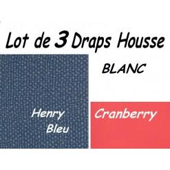 TOP PROMO / LOT 3 DRAP HOUSSE 70x190  / 3DHENRY