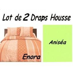 TOP PROMO / LOT 2 DRAP HOUSSE 110x190  / 2DHENORA