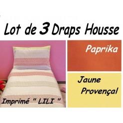 TOP PROMO / LOT 3 DRAP HOUSSE 80x180 / 3DHLILI
