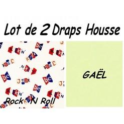 TOP PROMO / LOT 2 DRAP HOUSSE 100x190  / 2DHROCKgael