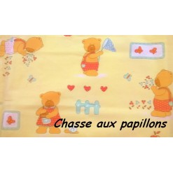 TOP PROMO / TAIE OREILLER 35x55 / Chasse aux papillons