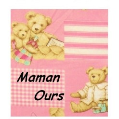 TOP PROMO / TAIE OREILLER 35x55 / MAMAN OURS