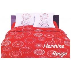 TOP PROMO / LA TAIE OREILLER 30x50 cm  / HERMINE Rouge