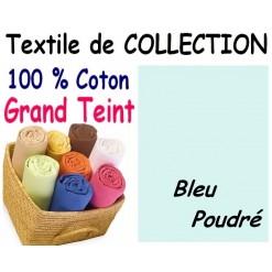 DRAP HOUSSE bébé 80x160 cm GRAND TEINT / BLEU Poudré
