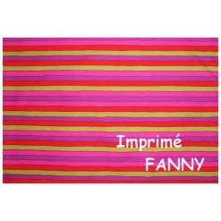 DRAP HOUSSE Enfant 80x180 BONNET 20 cm Imprimé FANNY