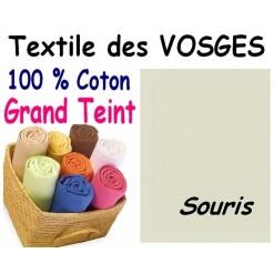 DRAP HOUSSE Enfant 80x180 cm GRAND TEINT / SOURIS