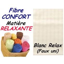 DRAP HOUSSE bébé 80x130 cm FIBRE CONFORT / BLANC RELAX