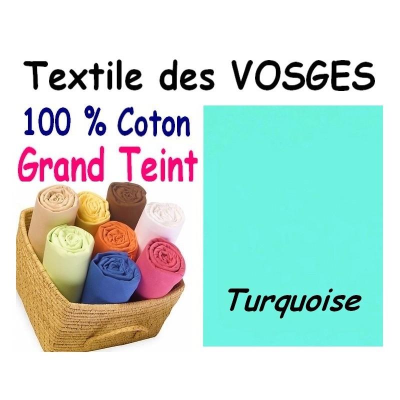 DRAP HOUSSE bébé 80x130 cm GRAND TEINT / TURQUOISE