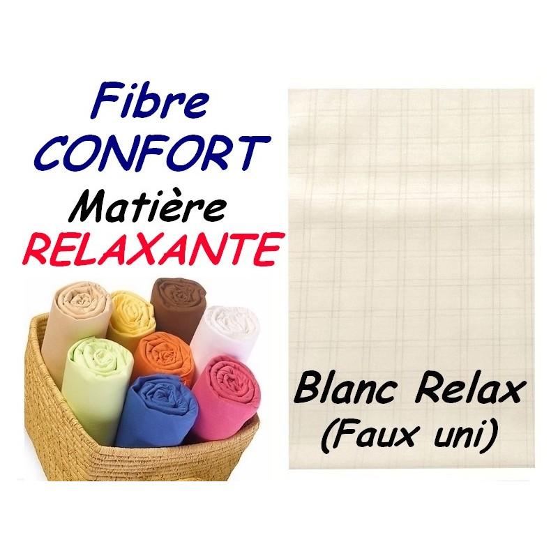 DRAP HOUSSE bébé 70x160 cm FIBRE CONFORT / BLANC RELAX