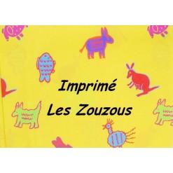 DRAP HOUSSE bébé 90x140 cm / Imprimé LES ZOUZOUS