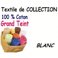 DRAP HOUSSE bébé 90x140 cm GRAND TEINT / BLANC
