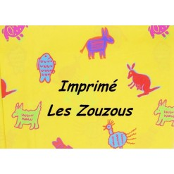 DRAP HOUSSE bébé 80x120 cm / Imprimé LES ZOUZOUS