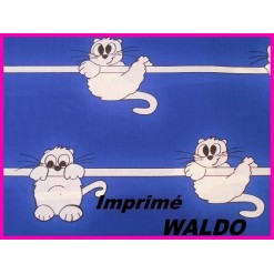 DRAP HOUSSE bébé 80x120 cm / Imprimé WALDO