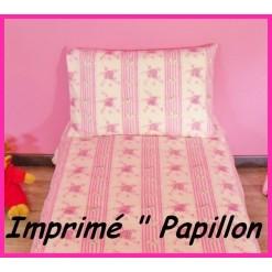 DRAP HOUSSE bébé 80x120 cm / Imprimé PAPILLON